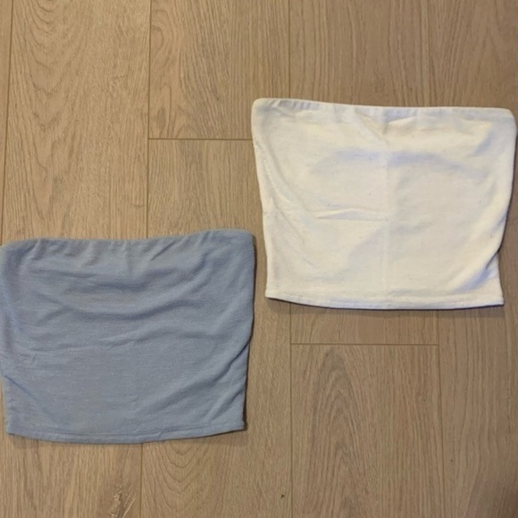 Wilfred Tops - Wilfred Tube Tops, Medium, white and light blue